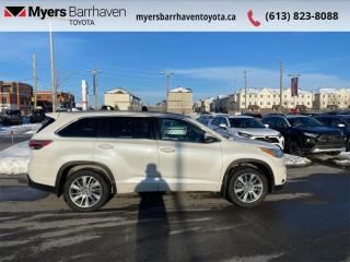 Used 2016 Toyota Highlander XLE  - Navigation -  Sunroof - $189 B/W for sale in Ottawa, ON