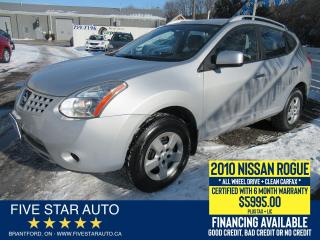 Used 2010 Nissan Rogue S AWD *Clean Carfax* Certified w/ 6 Month Warranty for sale in Brantford, ON