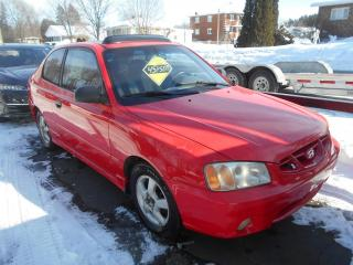 Used 2002 Hyundai Accent Coupé GS 3 portes, for sale in Sorel-Tracy, QC