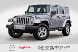 Used 2014 Jeep Wrangler Sahara 4X4 GPS Sieges Chauffants Bluetooth Jeep Wrangler Unlimited Sahara 4X4 2014 for sale in Lachine, QC