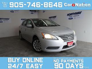 Used 2013 Nissan Sentra SV | BLUETOOTH | OPEN SUNDAYS! | ONLY 66 KM! for sale in Brantford, ON