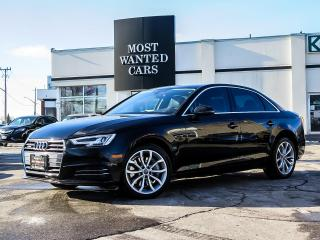 Used 2017 Audi A4 QUATTRO|PROGRESSIVE|NAV|PADDLE SHIFTERS|F+R SENSORS|SUNROOF|XENONS for sale in Kitchener, ON
