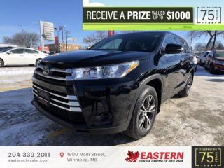 Used 2019 Toyota Highlander LE | 1 Owner | Backup Cam | 8 Passenger | for sale in Winnipeg, MB