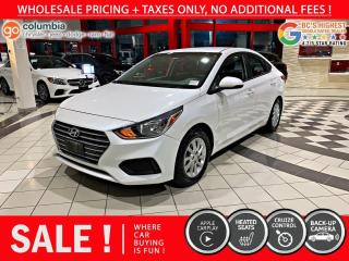 Used 2018 Hyundai Accent GL - Local / Low Mileage / No Dealer Fees for sale in Richmond, BC