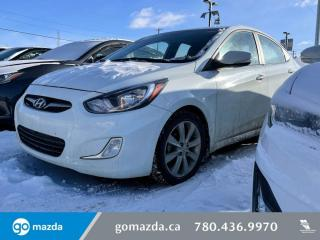 Used 2013 Hyundai Accent GLS - AUTO, SUNROOF, ALLOYS, HEATED SEATS AND MUCH MORE! for sale in Edmonton, AB