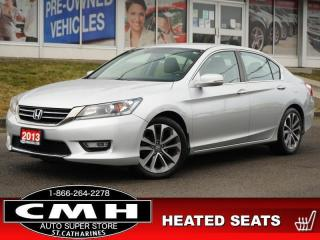 Used 2013 Honda Accord Sedan Sport  CAM P/SEAT HTD-SEATS 18-AL for sale in St. Catharines, ON