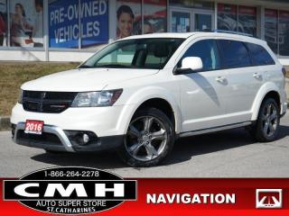 Used 2016 Dodge Journey Crossroad  NAV CAM ROOF LEATH 7-PASS 19-AL for sale in St. Catharines, ON