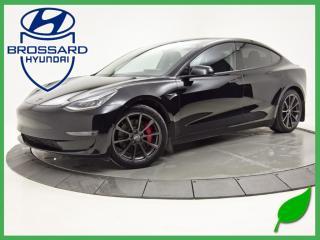 Used 2020 Tesla Model 3 PERFORMANCE NAV 0/100KM 3.3 SECONDS for sale in Brossard, QC