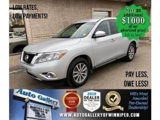 Used 2014 Nissan Pathfinder S* AWD/Push Start/REMOTE STARTER for sale in Winnipeg, MB