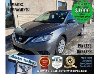 Used 2017 Nissan Sentra S* Automatic/VERY LOW KILOMETRES for sale in Winnipeg, MB