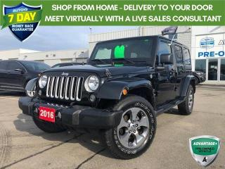 Used 2016 Jeep Wrangler Unlimited Sahara 4X4! AUTOMATIC ! TWO TOPS! CERTIFIED! for sale in Hamilton, ON