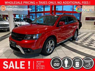 Used 2017 Dodge Journey Crossroad AWD - DvD / Nav / Sunroof / 7 Passenger for sale in Richmond, BC