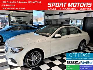 Used 2017 Mercedes-Benz E-Class E400 4MATIC AMG PKG+Massage Seat+ACCIDENT FREE for sale in London, ON