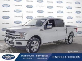 Used 2018 Ford F-150 Platinum - Navigation -  Leather Seats - $371 B/W for sale in Port Elgin, ON