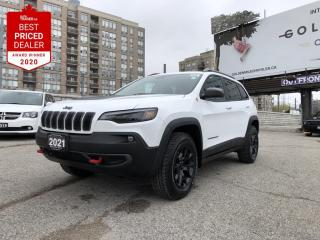 New 2021 Jeep Cherokee Trailhawk Nappa lthr-faced front vented seats, Unconnect, Navi, 8.4 inch display for sale in North York, ON