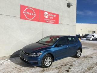 Used 2019 Volkswagen Golf TSI/SILK BLUE/CAR PLAY/BACK UP CAM/DAYTIME RUNNING/RAIN SENSING WIPER for sale in Edmonton, AB