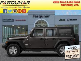 New 2021 Jeep Wrangler Unlimited Sahara 80th Anniversary Edition for sale in North Bay, ON