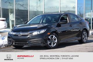 Used 2017 Honda Civic LX AUTO AUBAINE AUTO AC BLUETOOTH CAM RECUL APPLE CARPALY++ for sale in Lachine, QC
