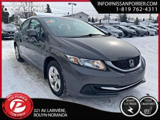 Used 2013 Honda Civic LX ( frais vip 395$ non inclus) for sale in Rouyn-Noranda, QC
