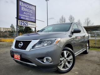 Used 2015 Nissan Pathfinder Platinum, LOCAL, NO ACCIDENTS for sale in Surrey, BC