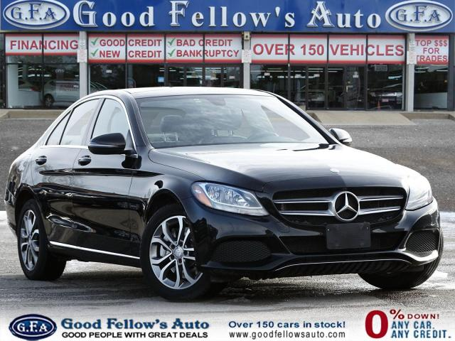 2017 Mercedes-Benz C300 4MATIC, PAN ROOF, LEATHER SEATS, NAVI, BLIND SPOT