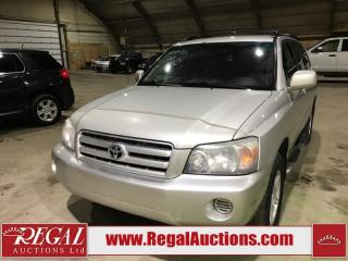 Used 2004 Toyota Highlander 4D Utility 4WD for sale in Calgary, AB