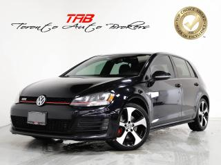 Used 2015 Volkswagen Golf GTI I SUNROOF I LEATHER I CAM I CLEAN CARFAX for sale in Vaughan, ON