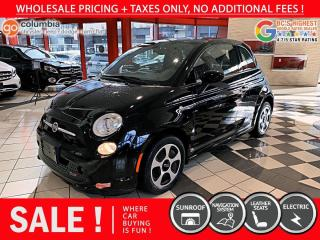 Used 2017 Fiat 500 E 500e - Nav / No Dealer Fees / Electric / Sunroof / No Accident for sale in Richmond, BC