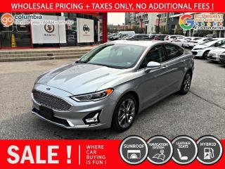 Used 2020 Ford Fusion Hybrid Titanium Hybrid - No Accident / Local / Nav / Leather / Sunroof for sale in Richmond, BC