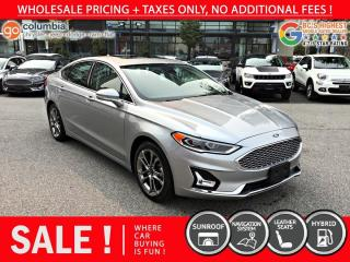 Used 2020 Ford Fusion Hybrid Titanium Hybrid - No Accident / Local / Sunroof / Nav for sale in Richmond, BC