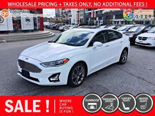 Used 2020 Ford Fusion Hybrid Titanium Hybrid - Leather / Nav / Sunroof / No Dealer Fees for sale in Richmond, BC