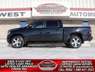 Used 2019 Dodge Ram 1500 SPORT LEVEL 2 CREW 4X4, ALL OPTIONS, LOW KM,SHARP! for sale in Headingley, MB