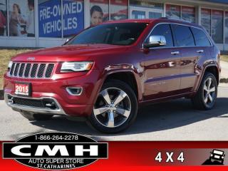 Used 2015 Jeep Grand Cherokee Overland  NAV ROOF LEATH HTD-S/W 20-AL for sale in St. Catharines, ON