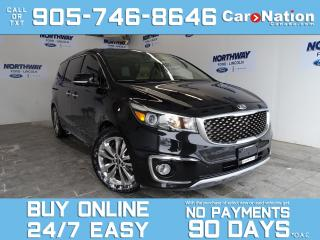 Used 2015 Kia Sedona SXL+ | LEATHER | SUNROOF | NAV | PWR SLIDING DOORS for sale in Brantford, ON