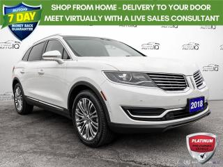 Used 2018 Lincoln MKX Reserve AWD/Leather/Navi/Roof/20 Wheels for sale in St Thomas, ON
