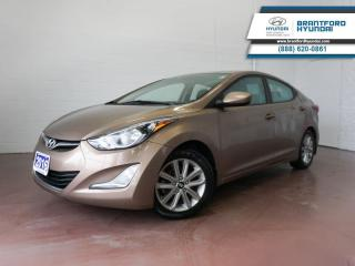 Used 2016 Hyundai Elantra 1 OWNER | FULLY SERVICED HERE | BLUETOOTH  - $81 B/W for sale in Brantford, ON