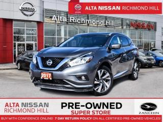 Used 2017 Nissan Murano Plat   PWR Liftgate   Navi   360CAM   BSW   Bose for sale in Richmond Hill, ON