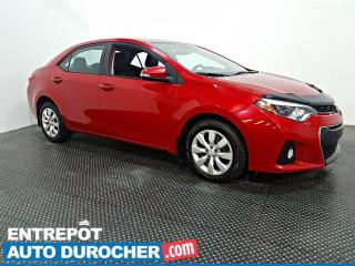 Used 2016 Toyota Corolla S - AIR CLIMATISÉ - CAMÉRA DE RECUL for sale in Laval, QC