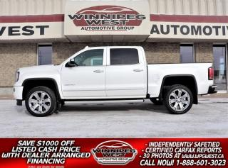 Used 2018 GMC Sierra 1500 DENALI 6.2L 420HP 4X4, ALL OPTIONS, LOCAL TRADE! for sale in Headingley, MB