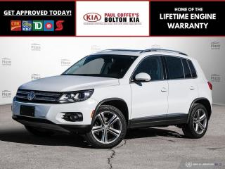Used 2017 Volkswagen Tiguan Highline | NAV | SunRoof | Rear CAM | LOW KM for sale in Bolton, ON