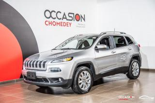 Used 2017 Jeep Cherokee LIMITED AWD +CUIR+SIEGES-VOLANT CHAUFFANT for sale in Laval, QC