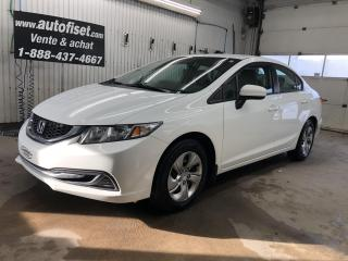 Used 2014 Honda Civic $50. par semaine +taxes for sale in St-Raymond, QC