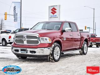 Used 2013 RAM 1500 LongHorn Crew Cab 4x4 ~Nav ~Cam ~Leather ~Moonroof for sale in Barrie, ON