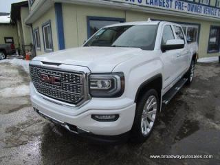 Used 2018 GMC Sierra 1500 LOADED DENALI EDITION 5 PASSENGER 5.3L - V8.. 4X4.. CREW-CAB.. SHORTY.. NAVIGATION.. BACK-UP CAMERA.. POWER PEDALS.. HEATED/AC SEATS.. BOSE AUDIO.. for sale in Bradford, ON