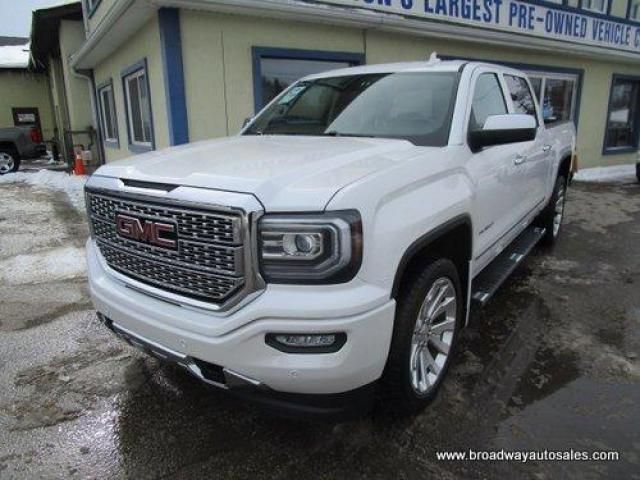 2018 GMC Sierra 1500 LOADED DENALI EDITION 5 PASSENGER 5.3L - V8.. 4X4.. CREW-CAB.. SHORTY.. NAVIGATION.. BACK-UP CAMERA.. POWER PEDALS.. HEATED/AC SEATS.. BOSE AUDIO..