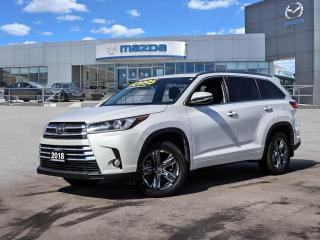 Used 2018 Toyota Highlander Limited Platinum only 32372 kms !! *ONE OWNER. CLEAN CARFAX, EXCELLENT CONDITION, LOCAL VEHICLE* for sale in Hamilton, ON