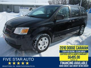 Used 2010 Dodge Grand Caravan SE *Clean Carfax* Certified w/ 6 Month Warranty for sale in Brantford, ON
