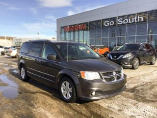 Used 2015 Dodge Grand Caravan CREW, LEATHER, DVD, 7 PASSENGER for sale in Edmonton, AB