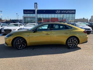 New 2021 Hyundai Sonata N-Line - 2.5T/Nappa Leather w/ Suede/Nav/Heads Up Display/Launch Control/Sport Tuned Exhaust/LED Head/Taillights/Dual Twin Tip Exhaust/Wireless Charging/Digital Cluster/Hwy Auto Cure Slowdown for sale in Edmonton, AB