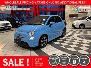 Used 2017 Fiat 500 E 500e - No Accident / One Owner / Nav / No Dealer Fees for sale in Richmond, BC